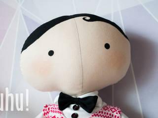 Mieciu - Tilda Sweetheart świąteczna lalka: styl , w kategorii  zaprojektowany przez uhu!