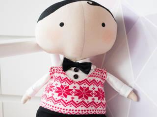 Mieciu - Tilda Sweetheart świąteczna lalka od uhu! Minimalistyczny