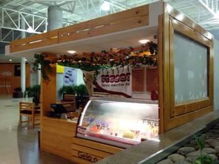 Muebles Punto de Pago. POS en Madera:  de estilo  por JVR  Madera Y Diseño, Moderno