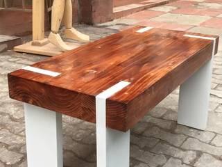 Mesas Personalizadas en Madera para espacios interiores y comedor :  de estilo  por JVR  Madera Y Diseño, Moderno