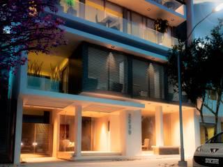 Modern balcony, veranda & terrace by AMADO arquitectos Modern