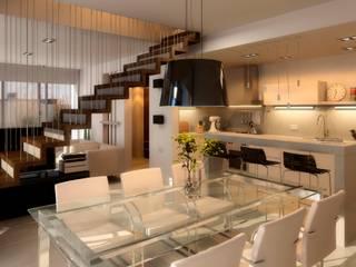 Edificio Mística VII: Comedores de estilo  por AMADO arquitectos