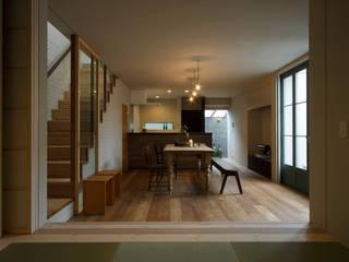 House in Minami Kounoike モダンデザインの リビング の Mimasis Design/ミメイシス デザイン モダン