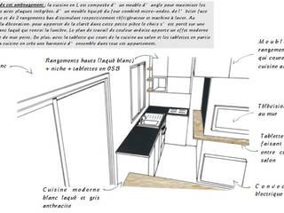 CROQUIS Cuisine :  de style  par Marion ALBINET, Décoratrice d'intérieur