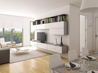 VIviendas Lamiategi SouthVisions SL Salones de estilo moderno