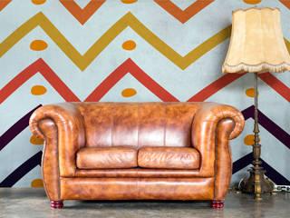 Diseño de Motivo Zig Zag Pasillos, vestíbulos y escaleras de estilo minimalista de Luis Quesada Design Minimalista