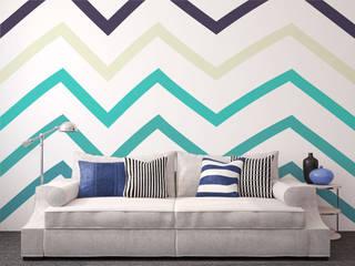 Diseño de Motivo Zig Zag Salones de estilo minimalista de Luis Quesada Design Minimalista