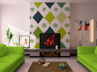 Diseño de Motivo Diamond Salones de estilo minimalista de Luis Quesada Design Minimalista