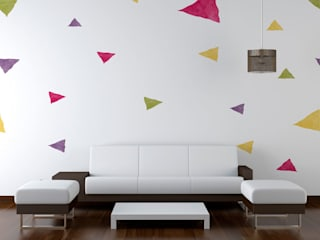 Diseño de Motivo Fun Color Salones de estilo minimalista de Luis Quesada Design Minimalista