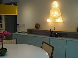 Catharina Quadros Arquitetura e Interiores Modern Dining Room Multicolored
