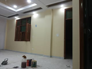 Quik Solution Asian style corridor, hallway & stairs Yellow