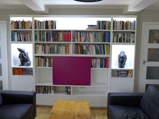Bespoke TV, Hi Fi, AV, Home Entertainment and Media Units Style Within Moderner Multimedia-Raum