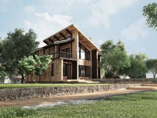Casas de estilo  por Студия архитектуры и дизайна ДИАЛ,