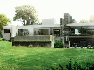 CASA COLINAS | UNQUILLO | VIVIENDA UNIFAMILIAR: Terrazas de estilo  por ARQUETERRA