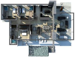 CASA COLINAS | UNQUILLO | VIVIENDA UNIFAMILIAR: Pasillos y recibidores de estilo  por ARQUETERRA