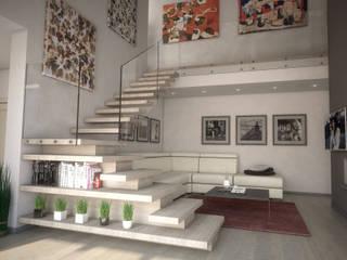 Living: Soggiorno in stile in stile Moderno di Ivan Rivoltella