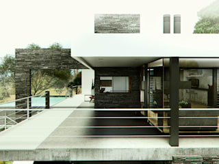 GALERÍA-ESPACIO INTERMEDIO: Terrazas de estilo  por ARQUETERRA