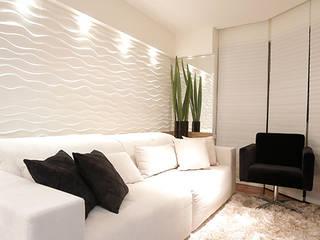 APARTAMENTO CONTEMPORÂNEO Estúdio Pantarolli Miranda - Arquitetura, Design e Arte Salas de estar modernas