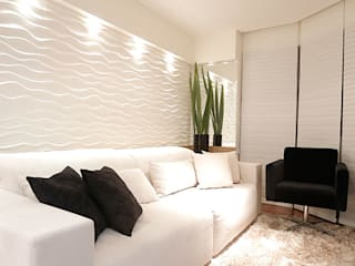 Salas de estar  por Estúdio Pantarolli Miranda - Arquitetura, Design e Arte