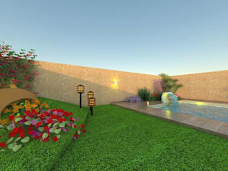 "PROYECTO ""CASA MODELO"" -aún sin ejecutar: Jardines de estilo  por ER Design.    @eugeriveraERdesign"