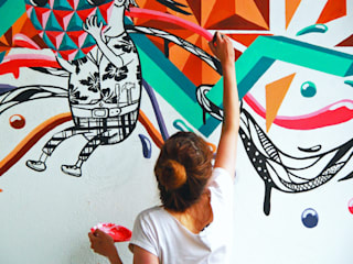 Mural-Where ideas are born and reborn de Phoenix Touch Minimalista