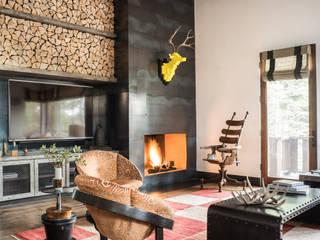 Truckee Residence 에클레틱 거실 by Antonio Martins Interior Design Inc 에클레틱 (Eclectic)