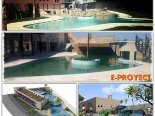 PISCINAS Salones de eventos de estilo moderno de E-PROYECT Moderno