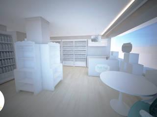 Decoração - Loja/Perfumaria: Lojas e espaços comerciais  por Andreia Louraço - Designer de Interiores (Contacto: atelier.andreialouraco@gmail.com)