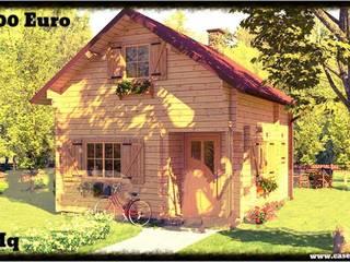 case di legno block house: Case in stile in stile Scandinavo di CasediLegnoSr