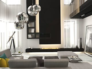 Livings de estilo moderno de GM-interior Moderno
