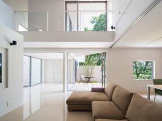 獅子ヶ口町の家 モダンデザインの リビング の Kenji Yanagawa Architect and Associates モダン