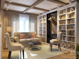 Salas de estilo rústico de Студия авторского дизайна ASHE Home Rústico