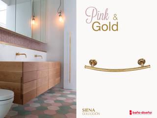 Baño rosa y dorado con Siena :  de estilo  de Baño Diseño