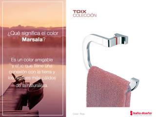 Baño marsala con accesorios de baño Toix:  de estilo  de Baño Diseño