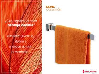 Baño naranja cadmio con accesorios de baño Quax:  de estilo  de Baño Diseño