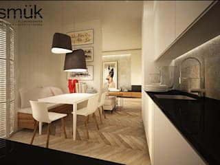 Apartament w Warszawie: styl , w kategorii Jadalnia zaprojektowany przez SMUK