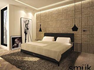 Apartament w Warszawie: styl , w kategorii Sypialnia zaprojektowany przez SMUK
