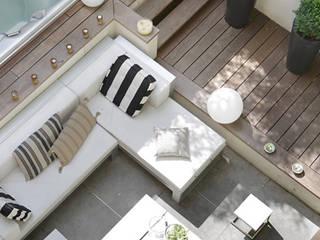 Kontinuität von Innen nach Aussen Moderner Balkon, Veranda & Terrasse von Ecologic City Garden - Paul Marie Creation Modern