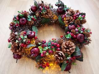 Weihnachtskranz Rattan beleuchtet Weihnachten Deko Winterkranz:  Wände & Boden von Stil Ikonen & Ladies Lounge