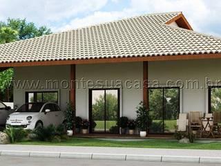 Casa avarandada e compacta por Monte Sua Casa