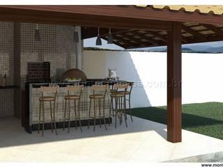 Quiosque - churrasqueira + quarto por Monte Sua Casa