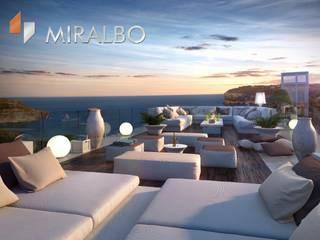 Villa Onyx Miralbo Excellence Balcon, Veranda & Terrasse modernes