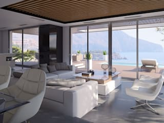 Villa Hemera Modern living room by Miralbo Excellence Modern