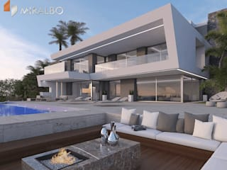 Villa Ciclopes Modern houses by Miralbo Excellence Modern