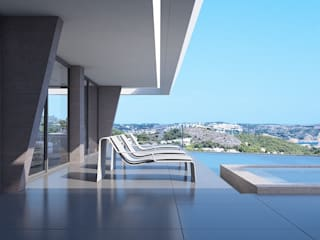 Miralbó Excellence Balcone, Veranda & Terrazza in stile moderno