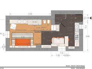 Modern living room by MmArchi. I Monica Maraspin Architetto Modern