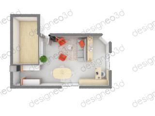Plan d'aménagement et d'agencement d'espace : Salon de style  par RAAB Architecture