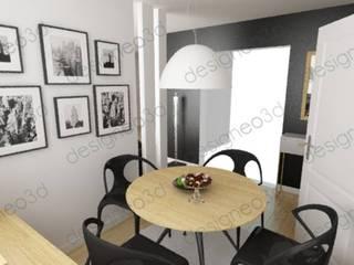 Vue de la salle à manger: Salle à manger de style  par RAAB Architecture