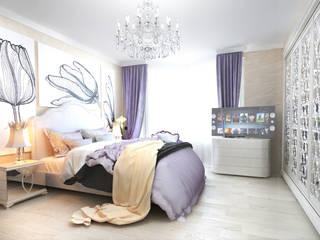 Dormitorios de estilo  de Tatiana Zaitseva Design Studio, Ecléctico