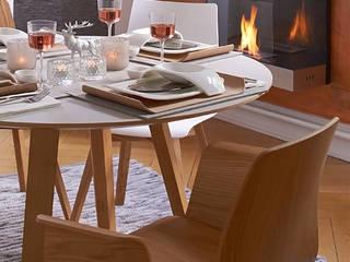 Stuhl & Tisch Maverick von KFF: landhausstil Esszimmer von KwiK Designmöbel GmbH